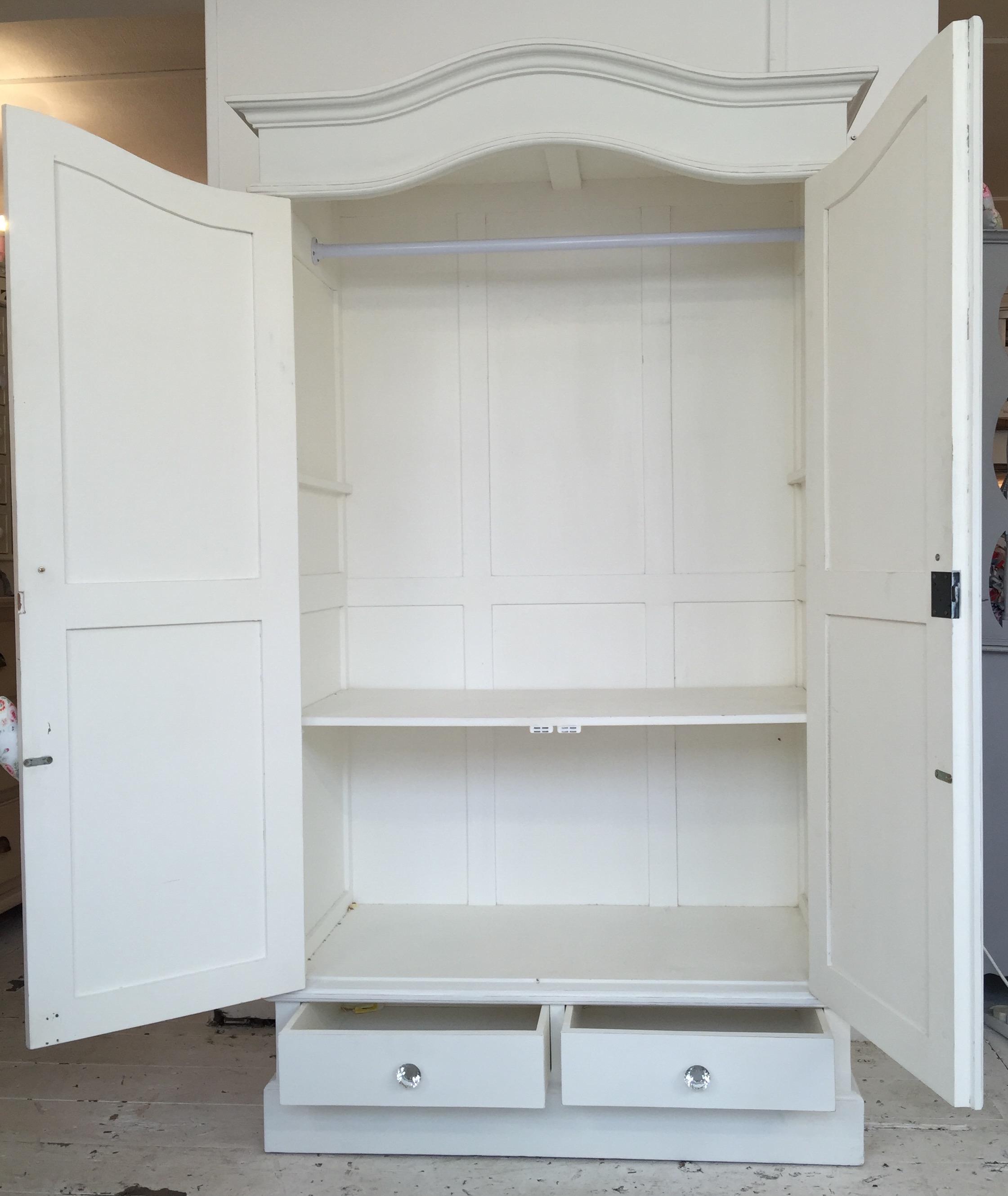 white shabby chic wardrobe FLFIEUZ