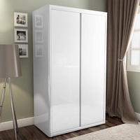 white wardrobes lexi white high gloss double wardrobe RXEUMKY