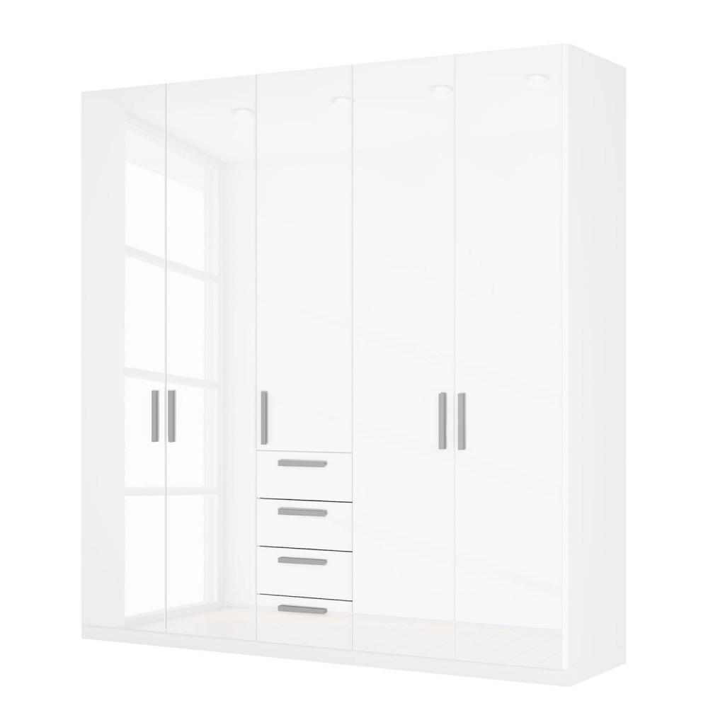 white wardrobes rauch agon 5 door white gloss combi wardrobe white carcase ... PZGPMBG