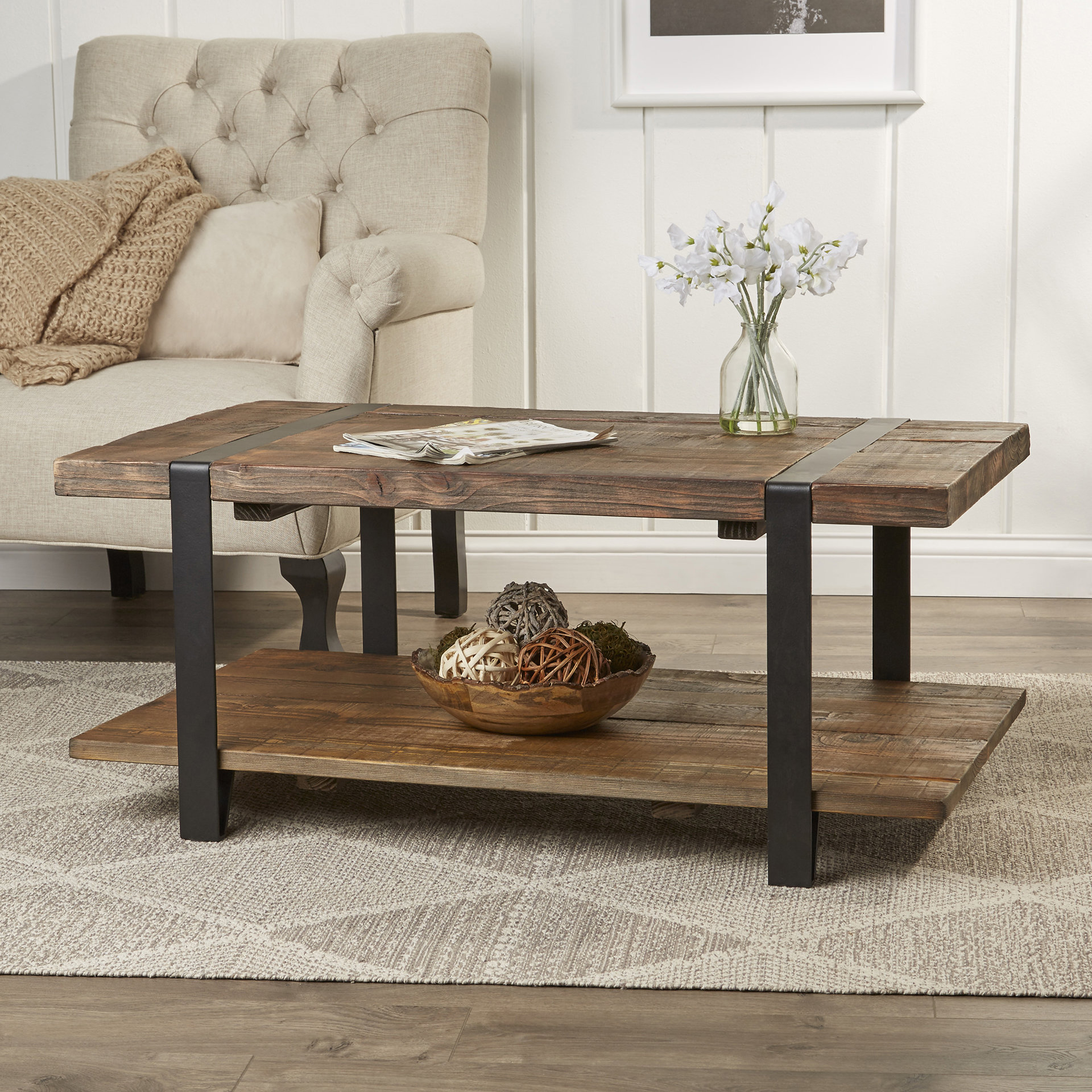 wood coffee table 42 MGKHVRG