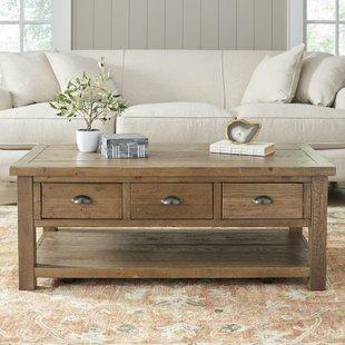 wood coffee table seneca coffee table JHFVRBA