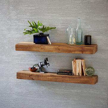 wood shelf reclaimed wood floating shelf | west elm POADLYA
