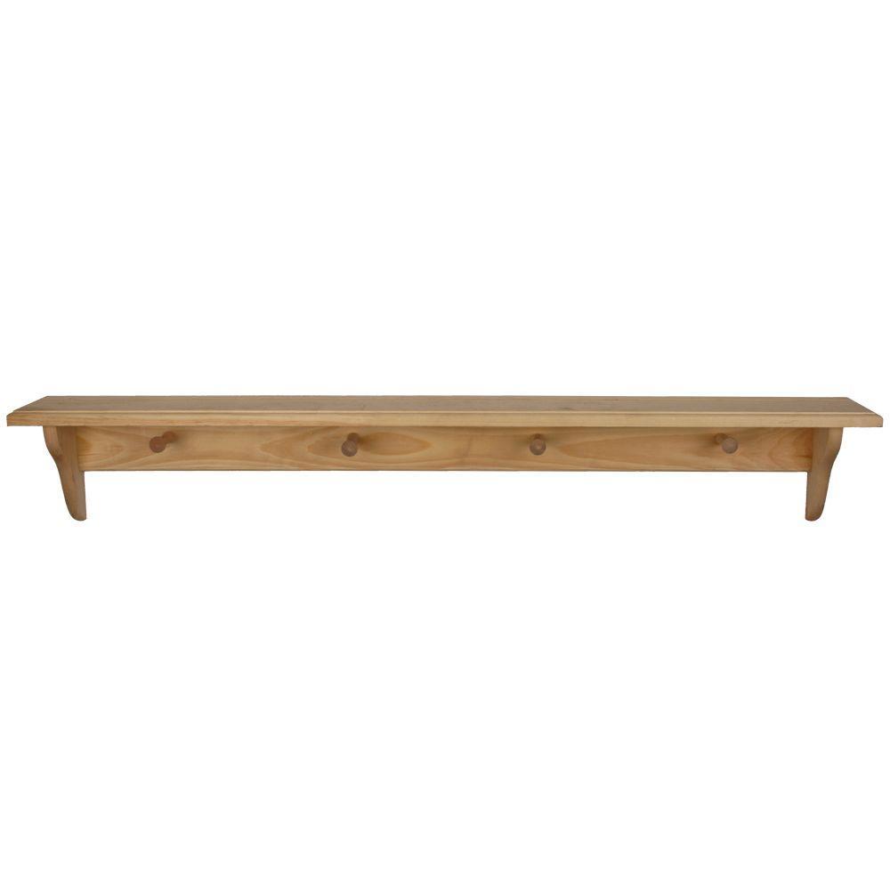 wood shelf unfinished wood decor shelf with RXMTDSB