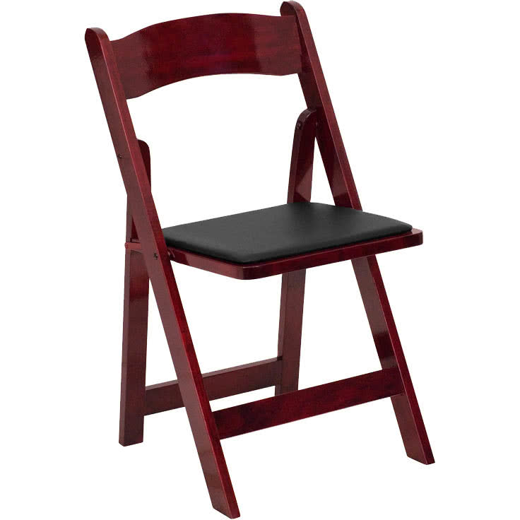 wooden folding chairs flash furniture xf-2903-mah-wood-gg mahogany wood folding chair with padded  seat HSZFNWG