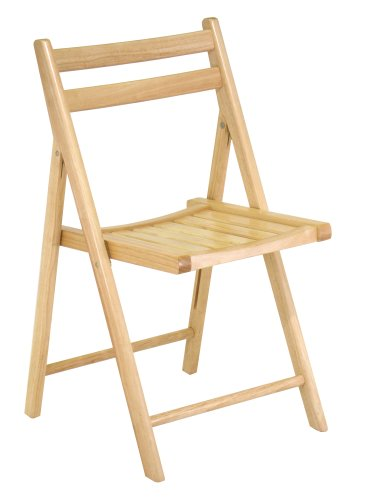 wooden folding chairs winsome wood folding chair, natural, set of 4 UHYKJTP