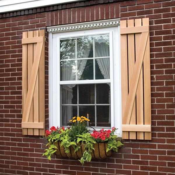wooden shutters board and batten z shutter in premium white pine or cedar DNWYNNJ