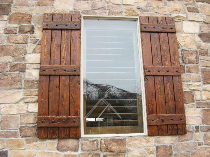 wooden shutters exterior wood shutters | decorative, provide privacy u0026 safety POVGTCT