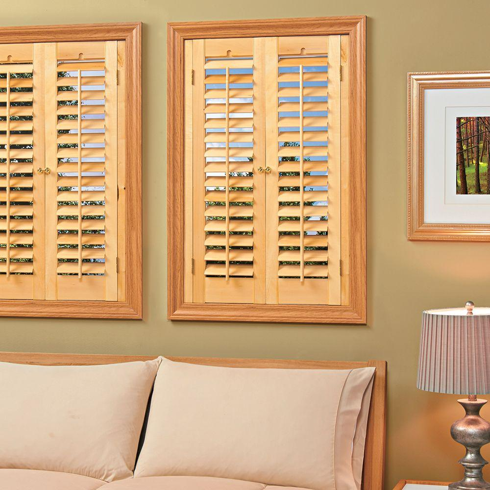 wooden shutters plantation light teak real wood interior shutter (price varies by size) CHTGLWY