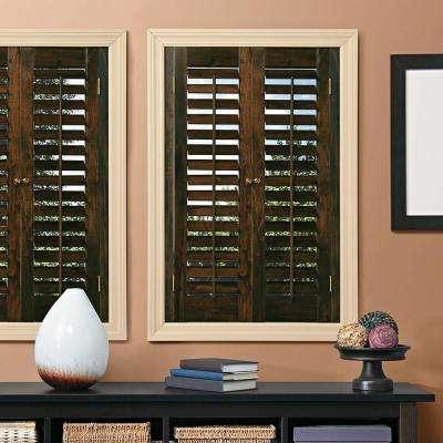 wooden shutters plantation walnut real wood interior shutter ... XJIQUNT