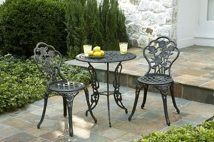 wrought iron patio furniture wrought iron outdoor furniture for that exquisite look - carehomedecor NKIADJZ
