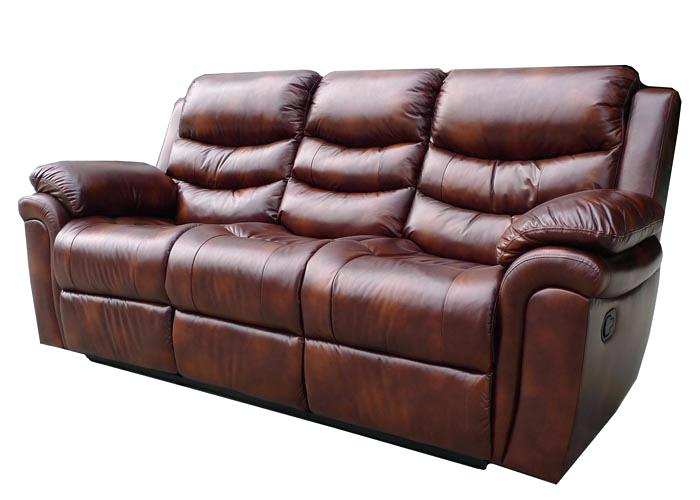 3 Seater Recliner Leather Sofa A A 3 Seater Leather Recliner Sofa