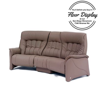 Himolla Rhine ZeroStress 3 Seater Curved Manual Reclining Leather