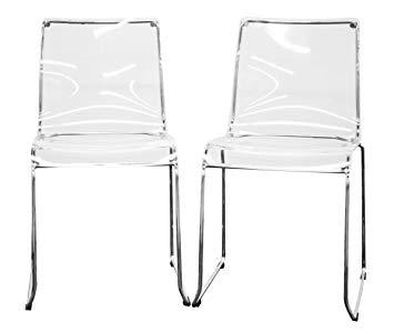 Amazon.com: Baxton Studio Lino Transparent Clear Acrylic Dining