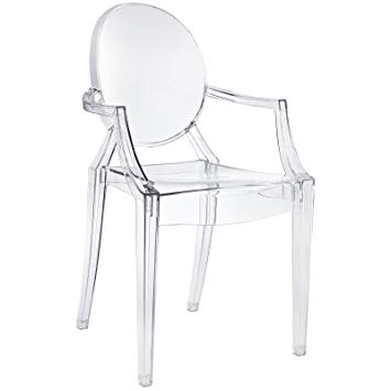 Amazon.com - Modway Casper Modern Acrylic Dining Armchair in Clear