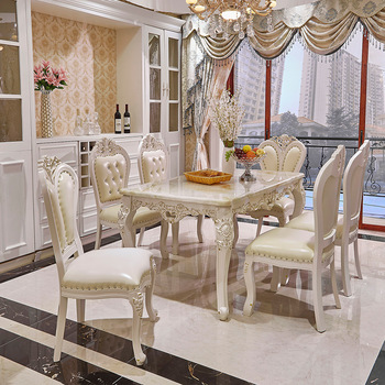 Luxury White Lacquer Silver Gold Stroke Antique French Provincial