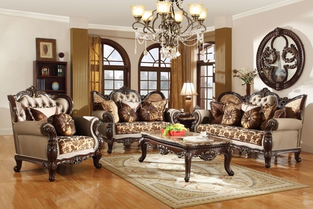 Sophisticated antique french provincial   living room furniture