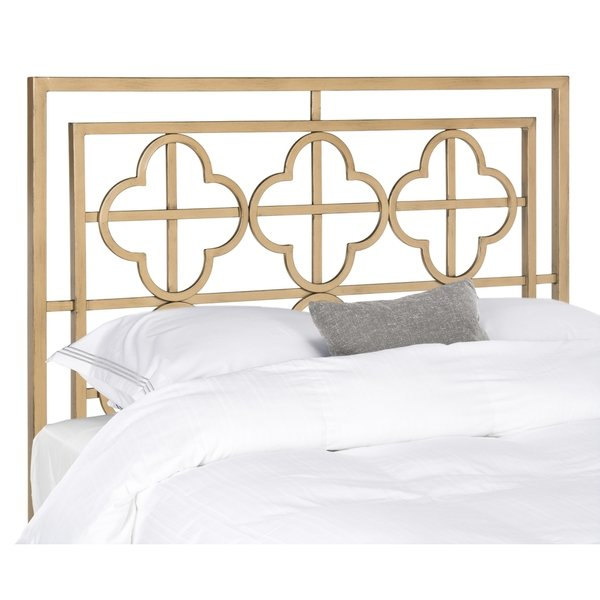 Safavieh Lucinda Antique Gold Metal Headboard (Queen)