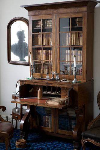 Antique secretary desk with hutch | British Design Elements