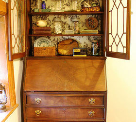 Freebie vintage secretary desk with hutch. | Hometalk