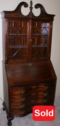 Antique Secretary Desk| Mahogany Secretary|Chippendale Secretary Desk