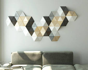 Geometric wall decor | Etsy