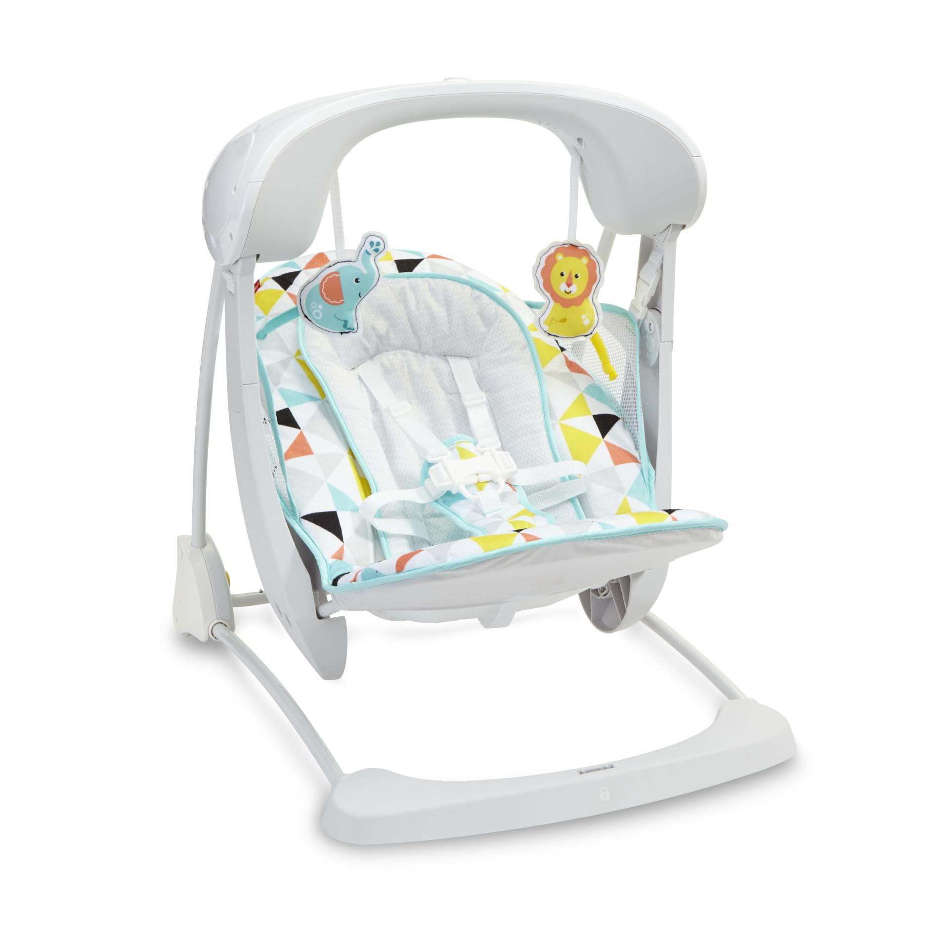 Fisher-Price Deluxe Take-Along Swing & Seat - Geometric
