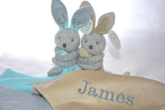 Personalised Bunny Baby Comforter / Blanket / Soother Blanket | Etsy