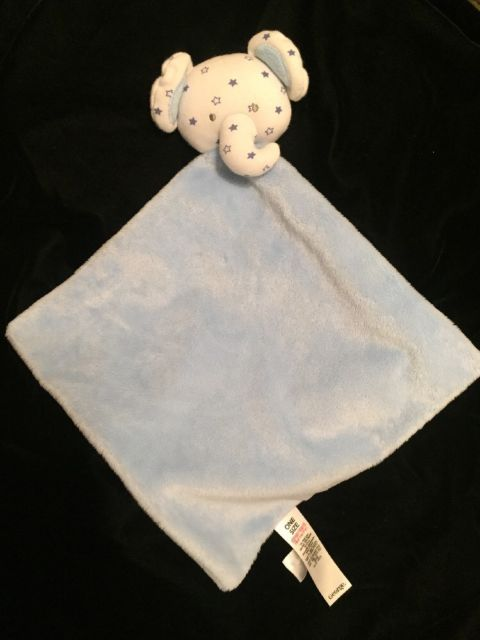 George Elephant Blue Star Comforter Soother White Doudou Asda Soft