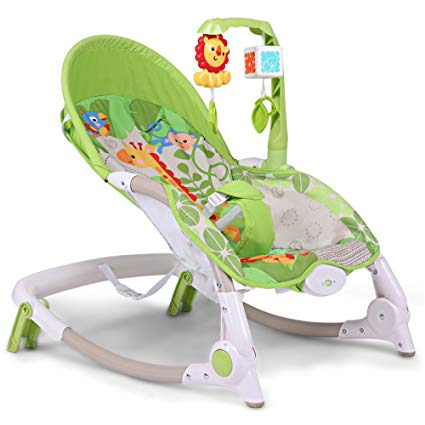 LZTET Swings Chair Bouncers Baby Rocking Chair Recliner Chair Newborn  Cradle Bed Electric Child Baby Sleepy