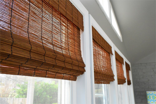 It's Gettin Hot In Hur, So Add Some Bamboo Blinds | Young House Love