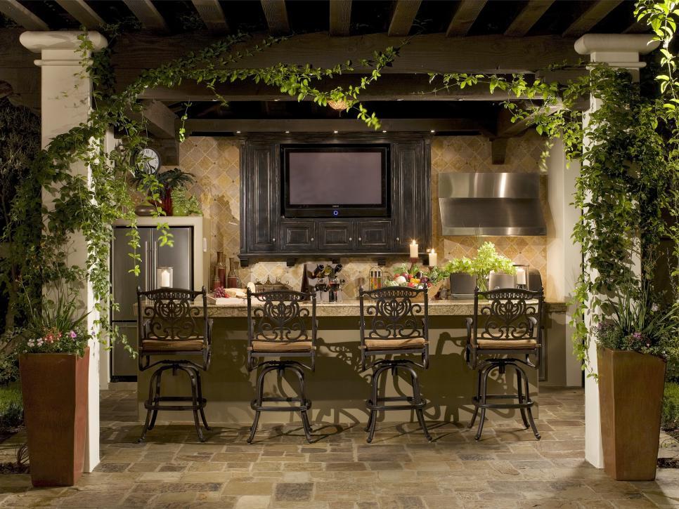 19 outdoor bar with builtin television Photos