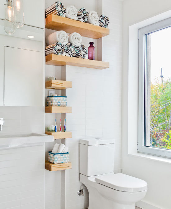 Use All Nooks For Shelving   Tutorial HERE