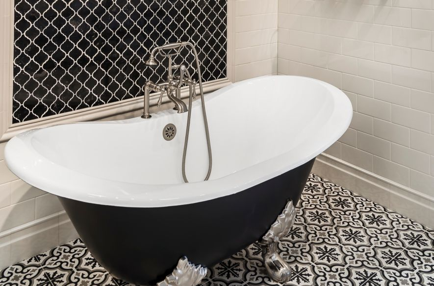 Need a bold floor tile idea? Encaustic and encaustic-look tiles add pattern  and color to walls and floors.