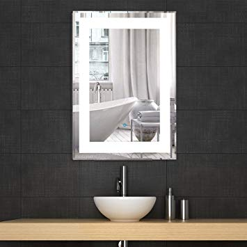 Amazon.com: Decoraport Vertical Rectangle LED Bathroom Mirror