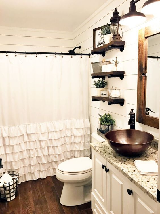 Farmhouse bathroom ideas for small space (34 | Home Sweet Home