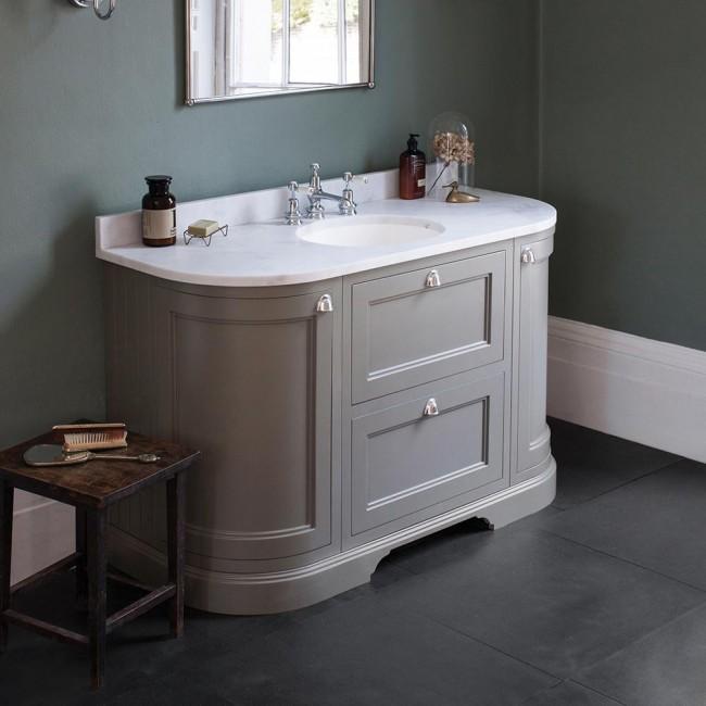Burlington 134 Vanity Unit with Drawers, Minerva Worktop & Basin