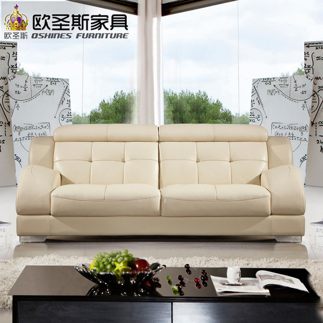 beautiful korean sectional provicial leather sofa with stainless