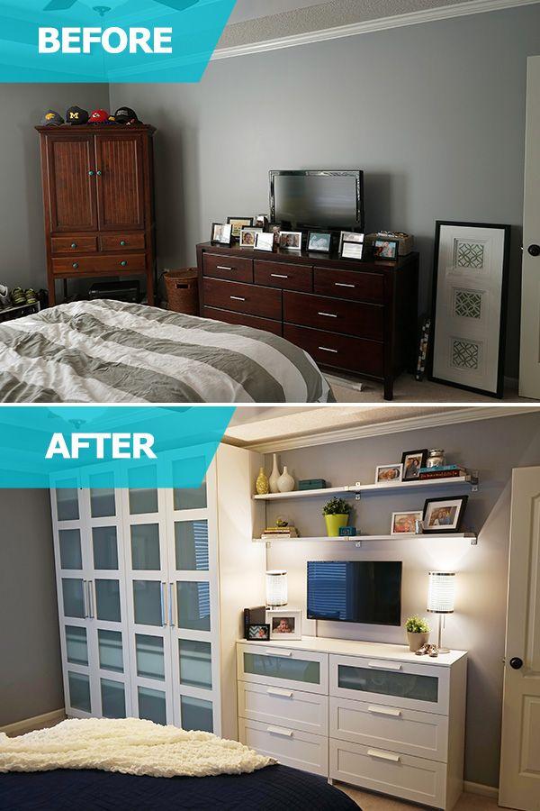 Small master bedroom (small bedroom ideas) #SmallBedroomIdeas Tags: small  guest bedroom ideas small double bedroom ideas small attic bedroom ideas  small