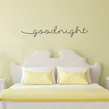 Amazon.com: Goodnight Wish Quote Decor - Wall Art Decal - 8