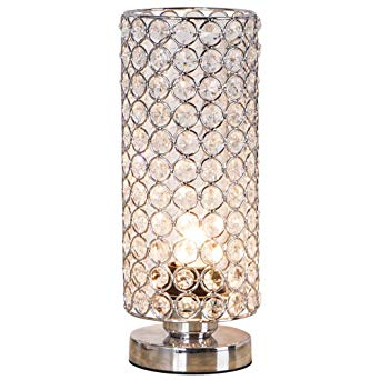 Image Unavailable. Image not available for. Color: ZEEFO Crystal Table Lamp,  Nightstand