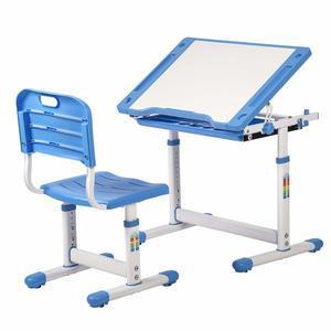 BestMassage Children Desk Kids Study Child School Adjustable Height  Childrens Table Chair Set