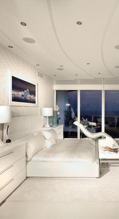Britto Charette White Bedroom, Modern Bedroom, Condo Decorating, Condo  Living, Bedroom Styles