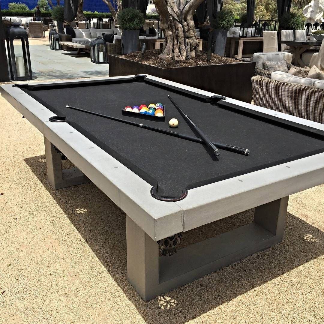 They sell outdoor pool tables out of concrete! #Backyard #FlippingVegas  #ZumaFarms
