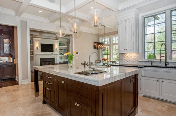View in gallery Arteriors Caviar Pendant lights offer a gorgeous textural  and visual contrast to this kitchen in Chicago