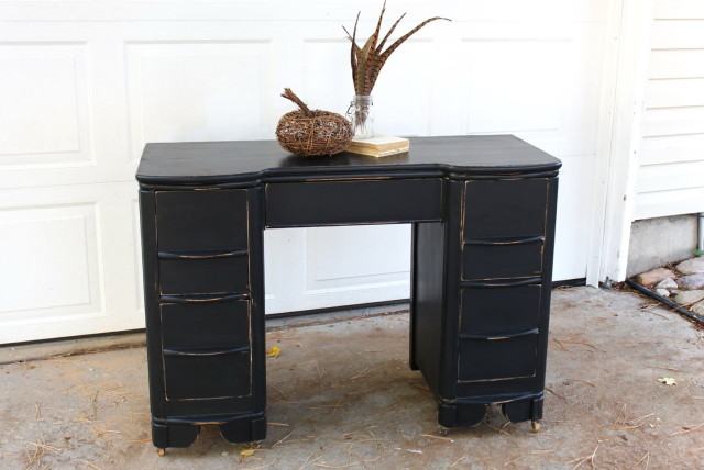 Black Desk With Drawers On Both Sides | Home Design Ideas