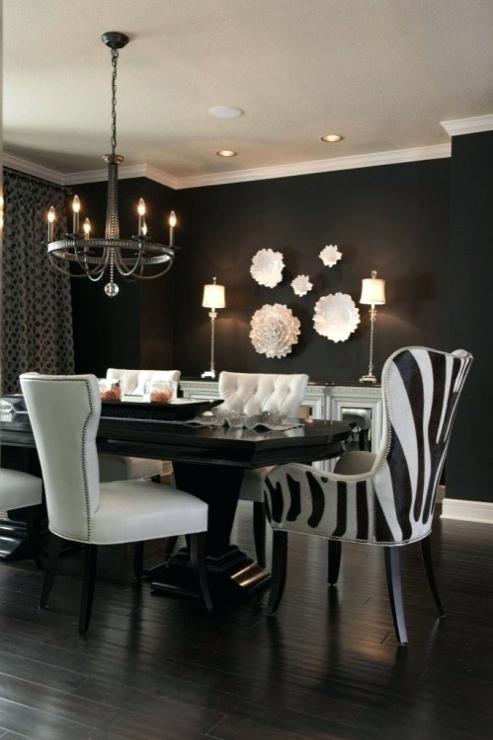 Black Dining Room Walls Black And White Dining Room Black Dining
