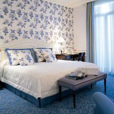 Blue Floral Bedroom