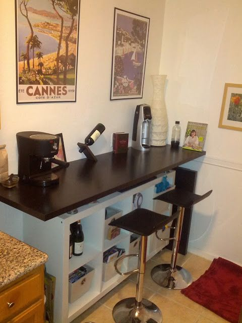 Breakfast Bar with lot of storage space | Kitchen, Dining room and