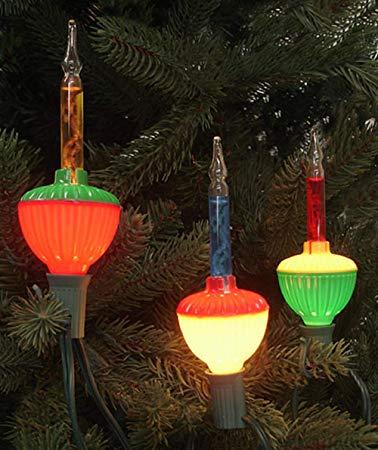 Amazon.com: Northlight Set of 7 Multi-Color Retro Christmas Bubble