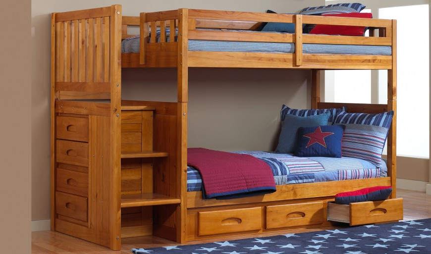 Advantages of cool bunk beds with stairs   and drawers
